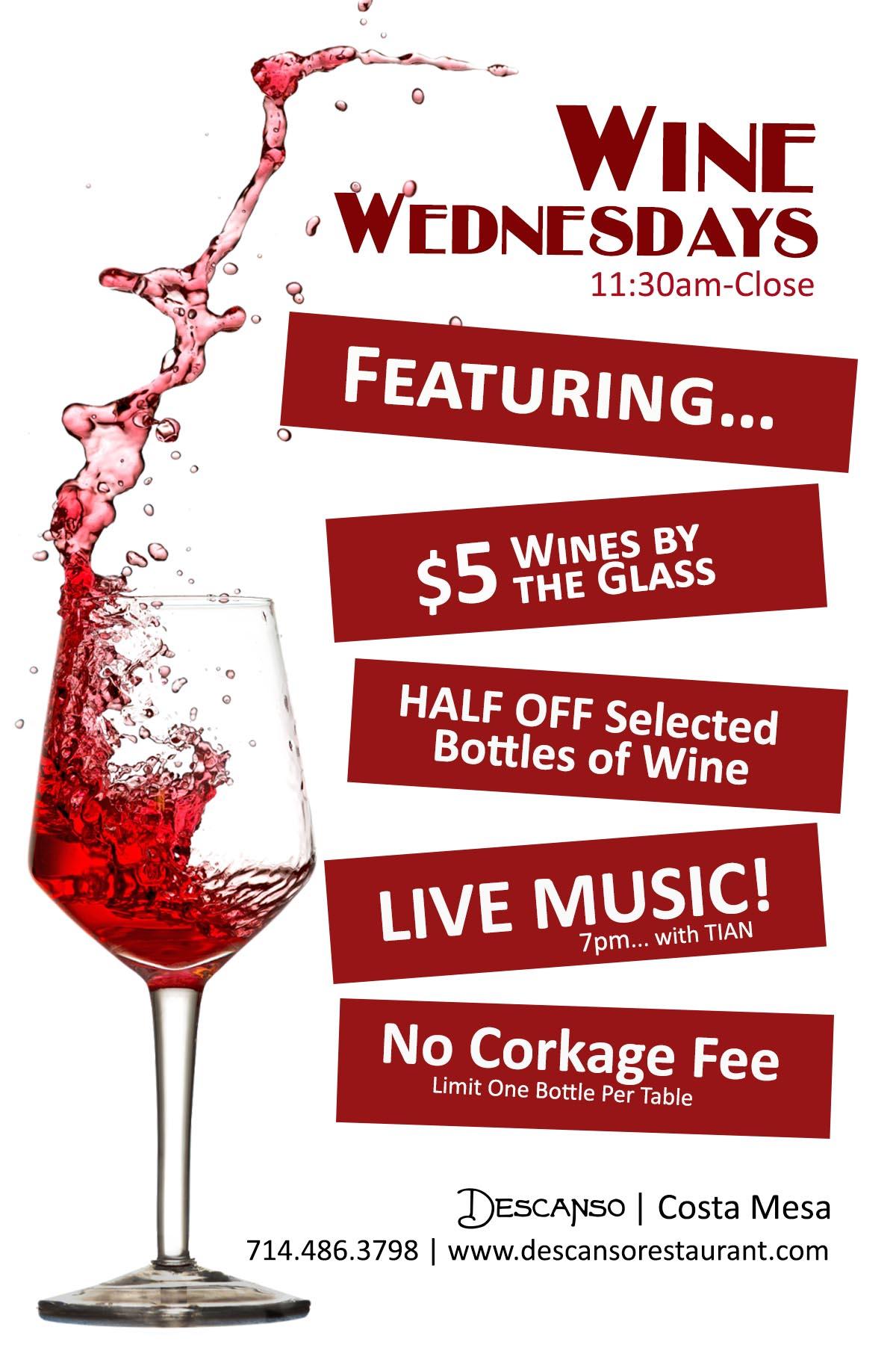 Descanso Wine Wednesdays